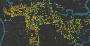RoadWay map of the City of Savannah