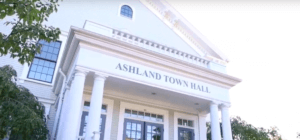 Front of Ashland, MA Town Hall