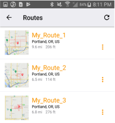 RoadNav Routes 1-3