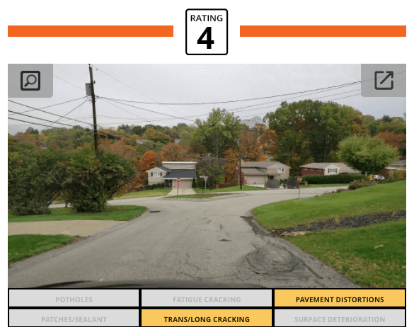 RoadWay image of pavement distortion