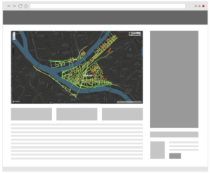 Mock Up on Embedded Map on website