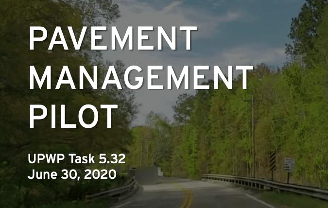 Pavement Management Pilot report cover